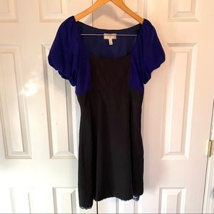 Moulinette Souers Silk Dress Blue Black